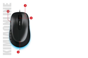 موس مایکروسافت Comfort Wired Blue Track Mouse 4500 4FD-00004