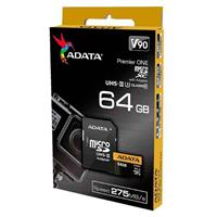 Memory Cards ADATA Premier ONE V90 UHS-II U3 Class 10 275MBps 64GB microSDXC With Adapter