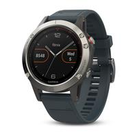 Watch - SmartBand Garmin Fenix 5 silver with Granite Blue Band